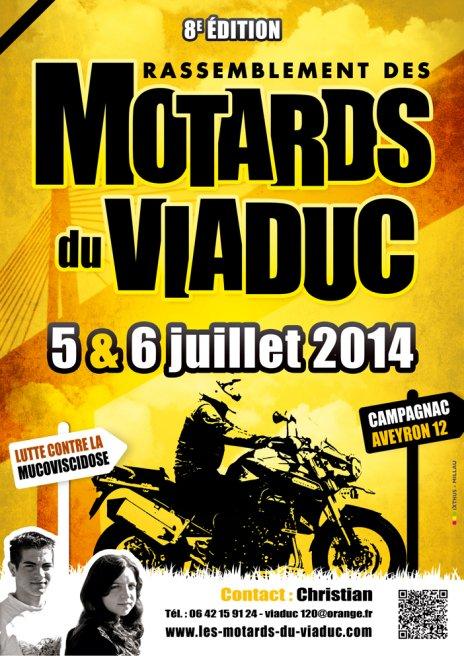 5-6/07 2014 Rassemblement Motards Du Viaduc en Aveyron Affich15