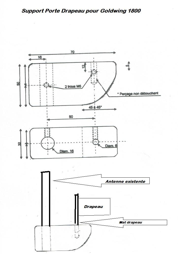 Fabrication D Un Porte Drapeau Pour Nos Golds - Mat porte drapeau