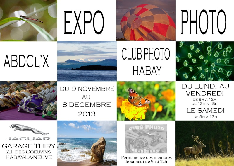 Expo ABDclX au garage Thiry à Habay Affich10