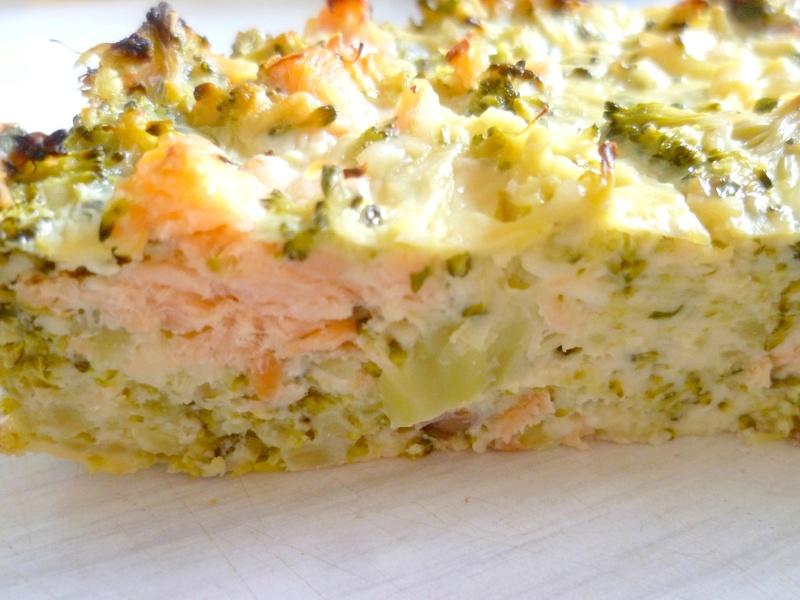 quiche sans pâte saumon/brocolis light Quiche10