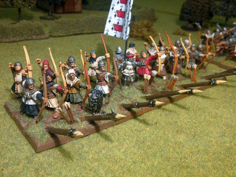 Fantassins Guerre de Cent ans / bretonniens WFB Archer13