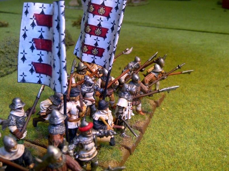 Fantassins Guerre de Cent ans / bretonniens WFB Eslett12