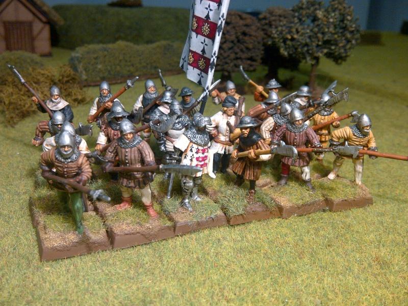 Fantassins Guerre de Cent ans / bretonniens WFB Ribaud10