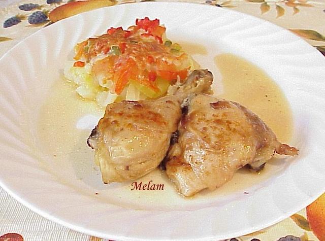 Légumes d'été cuits au four Poulet13