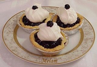 Tarte ou tartelettes aux bleuets Tartel10