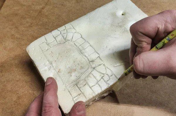 Frabiquer un mur, ou un foyer, en styrofoam Ezgif-10