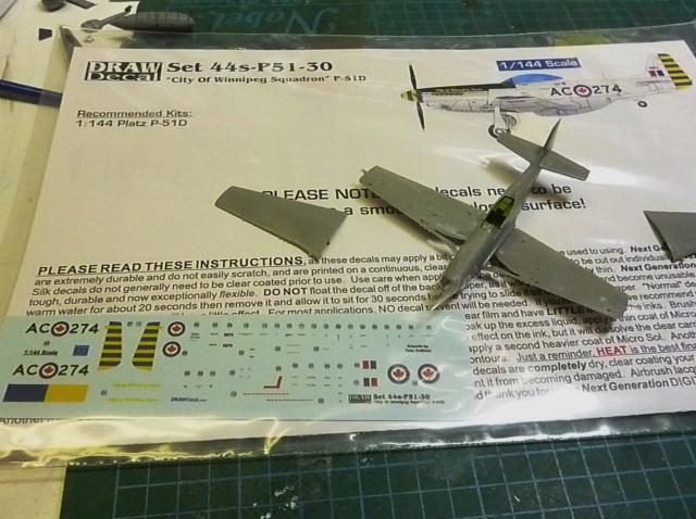 Platz 1/144 Mustang P-51D P1040510