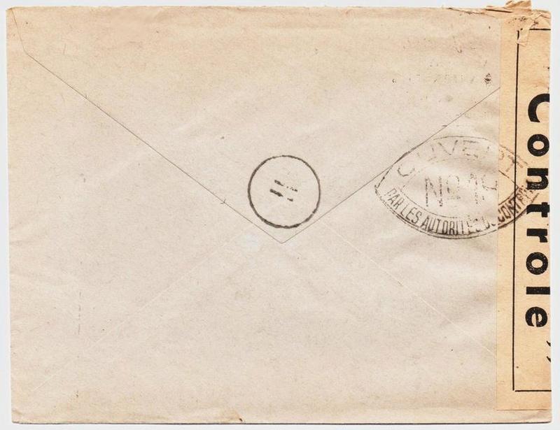 Les cachets de censure a N° (censure de l'armée) utilisés dès juillet 1944. 1944_c10