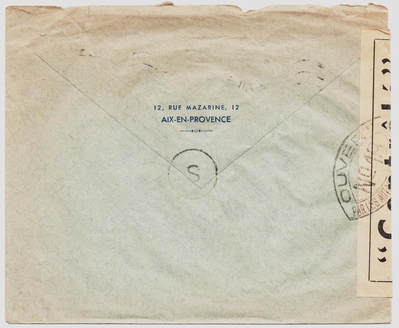 Les cachets de censure a N° (censure de l'armée) utilisés dès juillet 1944. 1944_c11