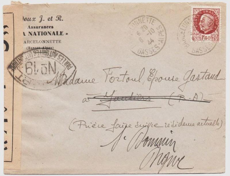 Les cachets de censure a N° (censure de l'armée) utilisés dès juillet 1944. 1944_c13