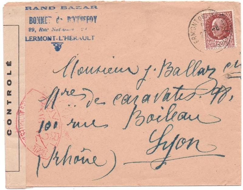 Les cachets de censure a N° (censure de l'armée) utilisés dès juillet 1944. 1944_c14