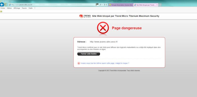 """Message : """"Danger : Attention, logiciel malveillant !"""" - Page 3 Jeunes10"""
