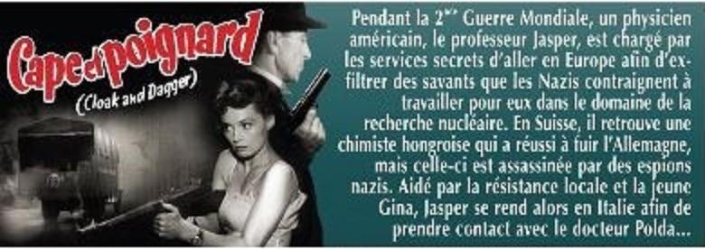 Cape et poignard. Cloak and Dagger. 1946. Fritz Lang. Cape_d10