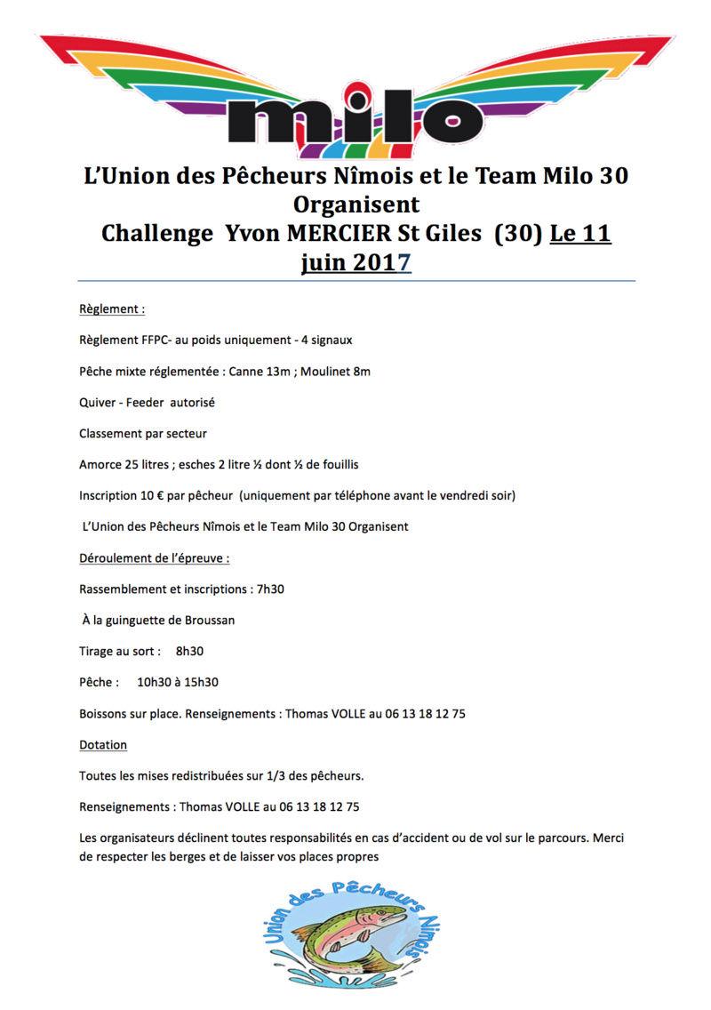 Team Milo 30 Organisent Challenge  Yvon MERCIER St Giles  (30) Le 11 juin 2017 Captur10