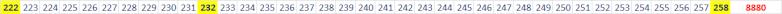 Lien infini des trois nombres. 888110