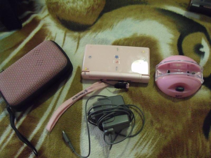 Pink Nintendo DS Lite + games Dscf8015