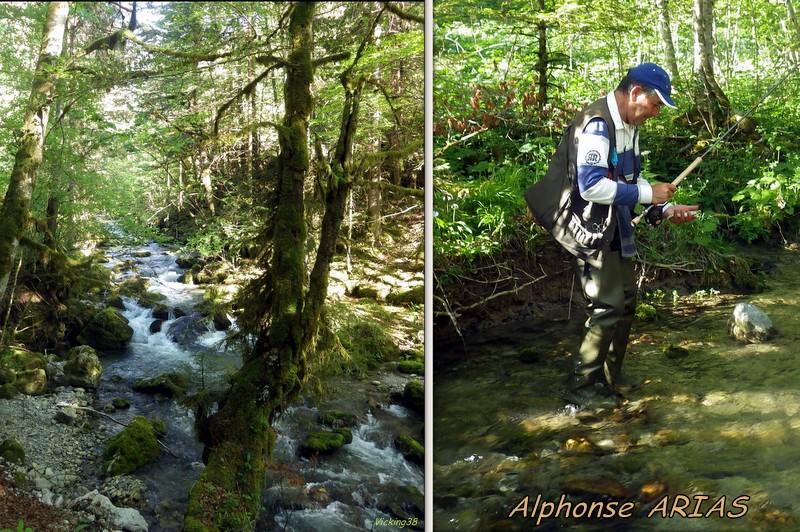 Alphonse Arias présent au mondiale de la truite   Alphon11