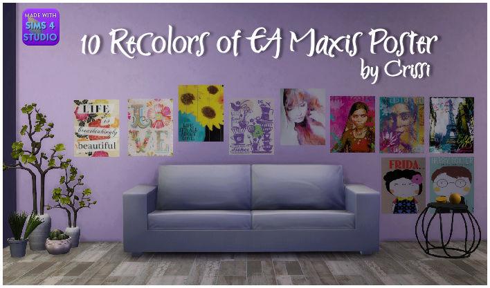 TS4 - 10 EA Maxis Poster Recolors Eapost11