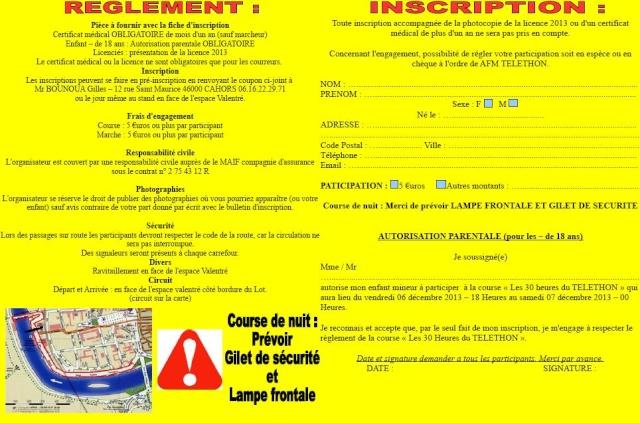 Les 30 heures du Telethon, Cahors, du 06/12 au 07/12 Inscri10