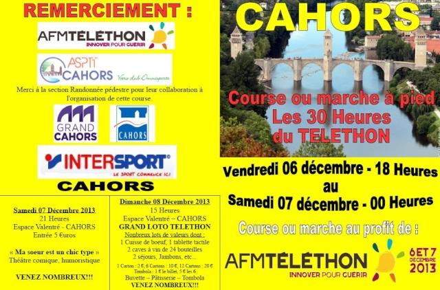 Les 30 heures du Telethon, Cahors, du 06/12 au 07/12 Teleth10