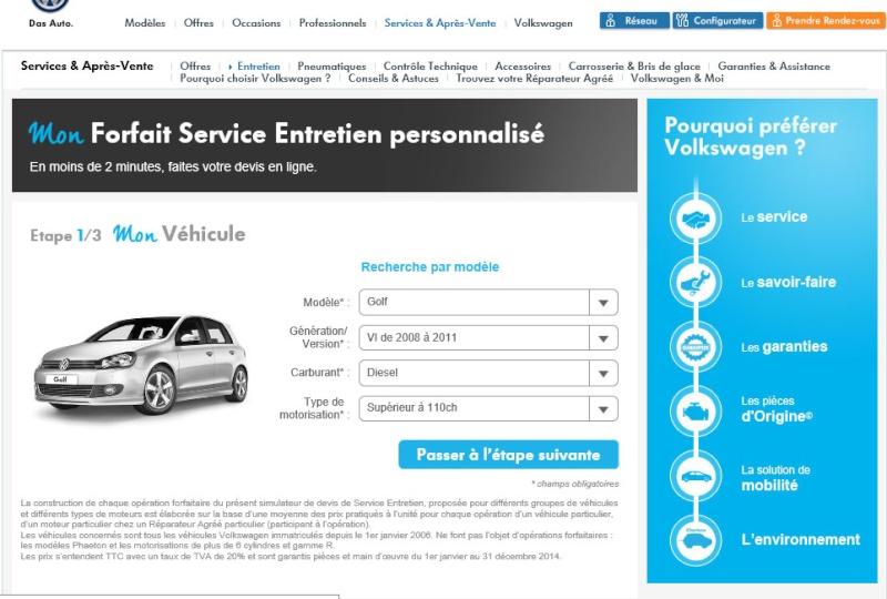 Forfait Service Entretien Personnalisé 117