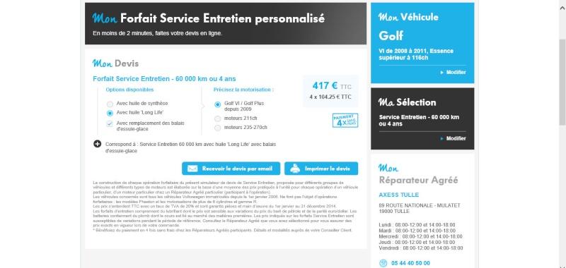 Forfait Service Entretien Personnalisé 120