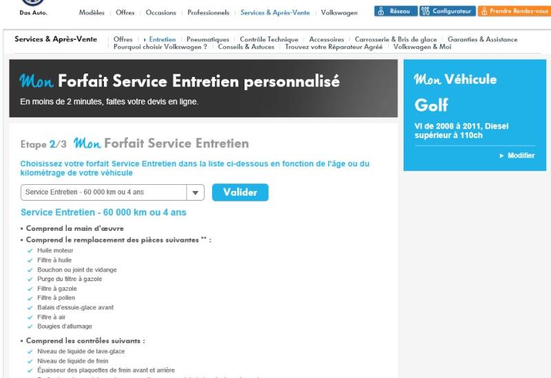 Forfait Service Entretien Personnalisé 211