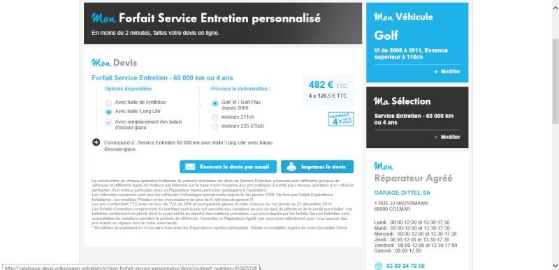 Forfait Service Entretien Personnalisé 212