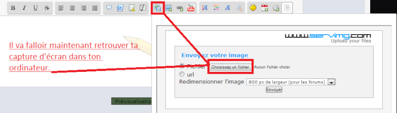 Comment faire et publier une capture d'écran ? Captu134