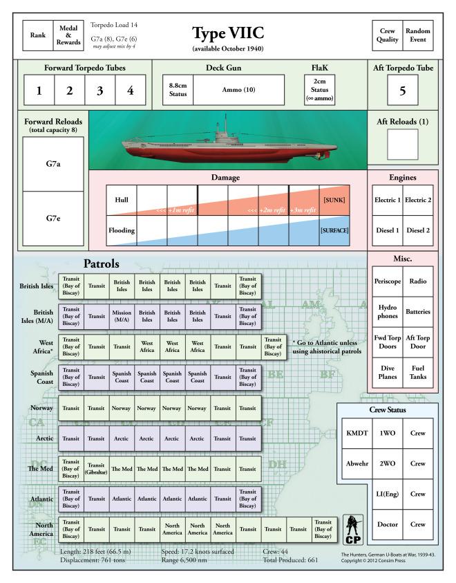 The Hunters (Consim Press/GMT) U-boat10