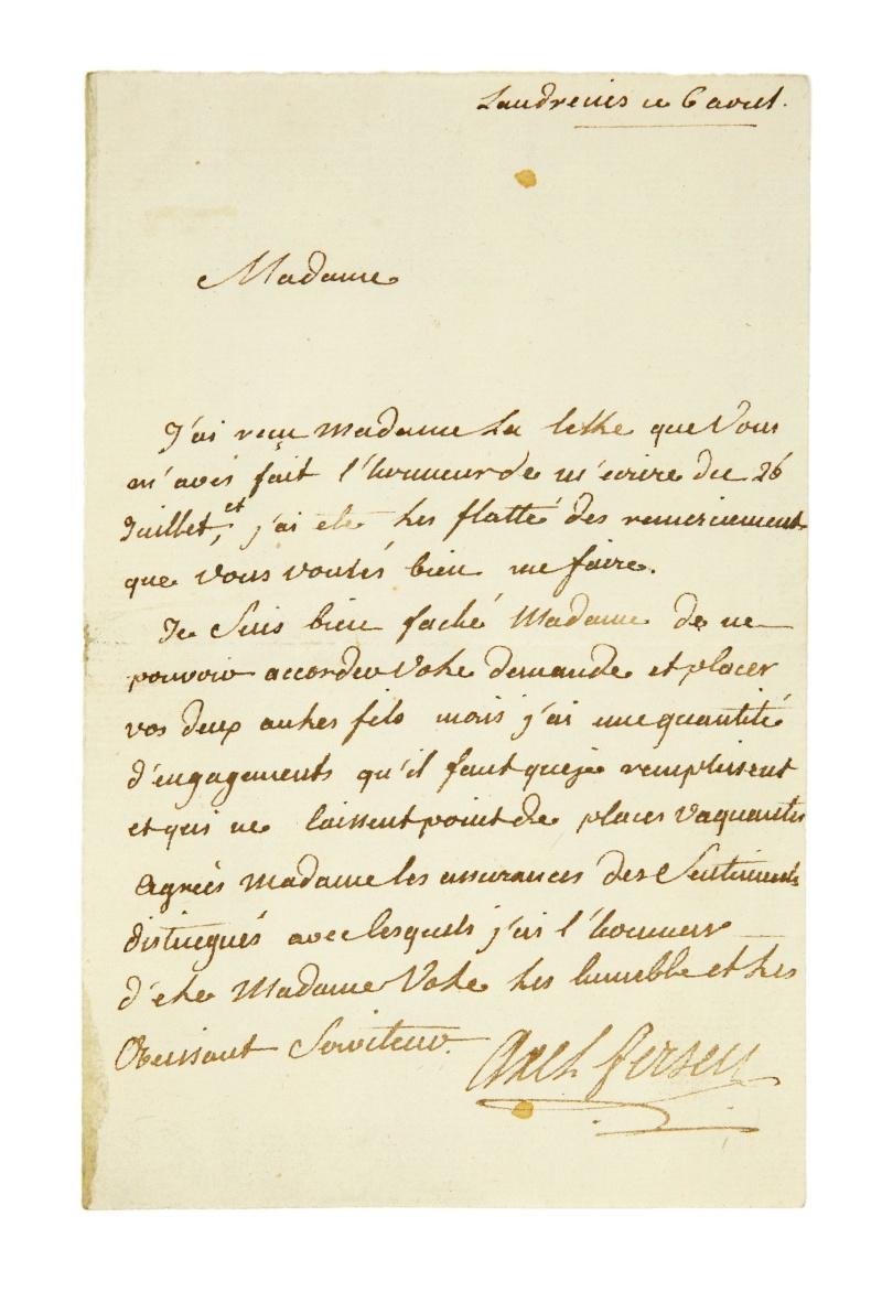écrits - Lettres, mots, notes et extraits du journal d'Axel de Fersen 642810
