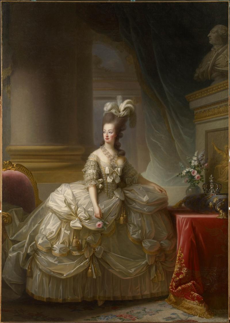 Premier portrait officiel de Marie-Antoinette par Mme Vigée-Lebrun (1778) Bassar10