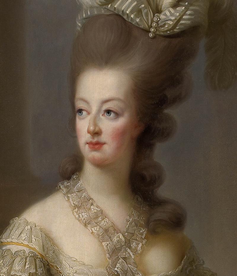 Premier portrait officiel de Marie-Antoinette par Mme Vigée-Lebrun (1778) Bassar11