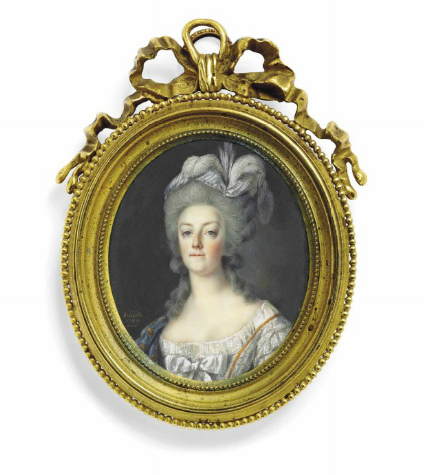 Portraits de Marie-Antoinette et Louis XVI, par Louis-Marie Sicard, dit Sicardi ou Sicardy Captu151