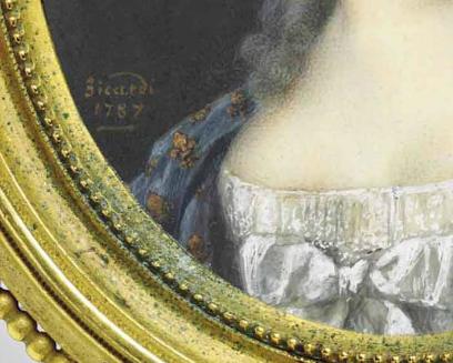 Portraits de Marie-Antoinette et Louis XVI, par Louis-Marie Sicard, dit Sicardi ou Sicardy Captu152