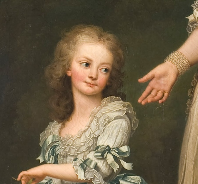 Portrait de Marie-Antoinette avec ses enfants à Trianon, par Wertmüller Captur46