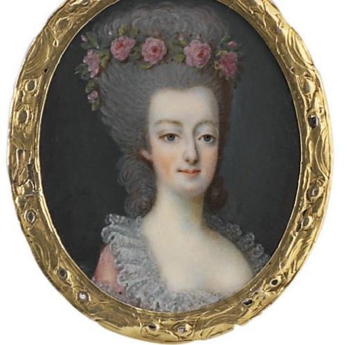 Dumont - Marie Antoinette, miniatures attribuées à ou d'après François Dumont Captur78