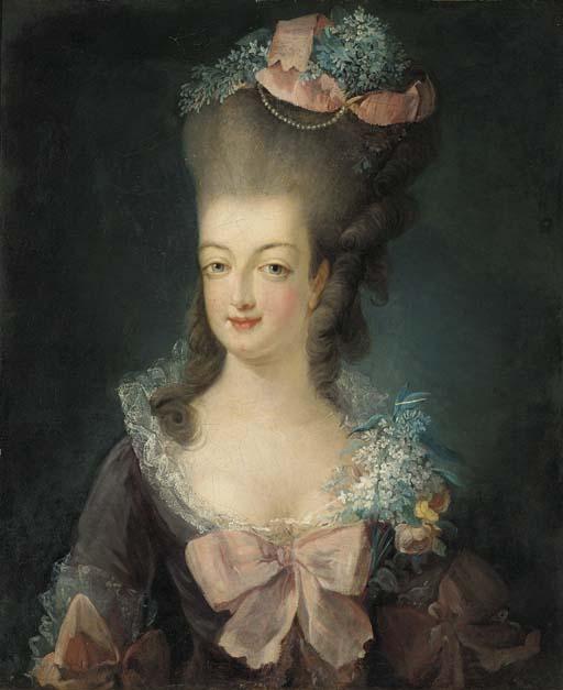 Portraits de Marie-Antoinette attribués aux Gautier Dagoty (ou d'après). D3996710