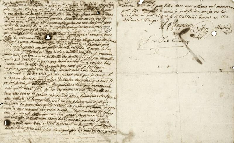 Testament / Lettre de Marie-Antoinette à Madame Elisabeth, le 16 octobre 1793 Image_11