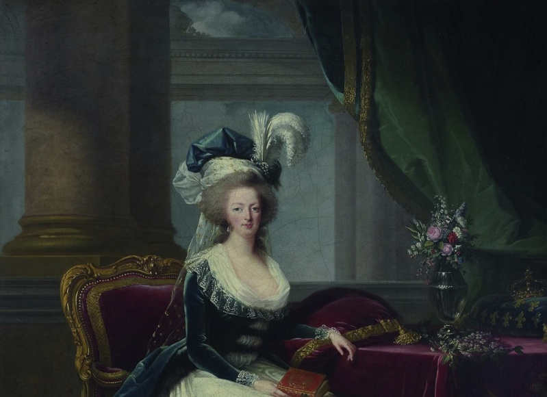 Portraits de Marie-Antoinette au livre, en robe bleue, par Vigée Le Brun (1785 - 1788 ?) Image_13