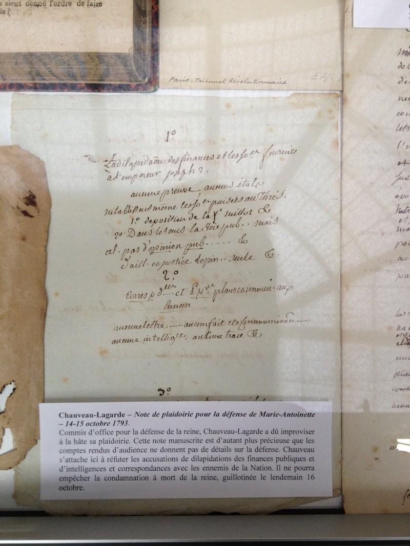 Exposition Chauveau-Lagarde à la chapelle expiatoire Img_2212