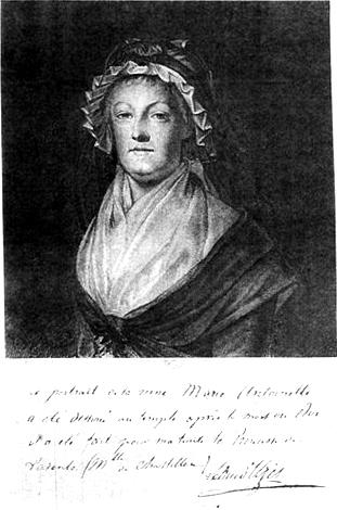Marie-Antoinette en deuil, par Kucharsky (1793) Kuchar10