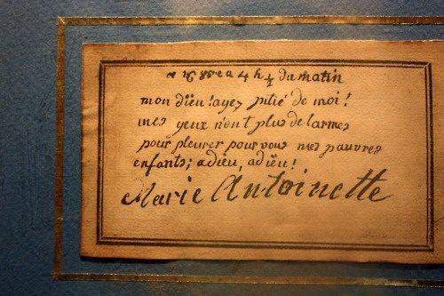 billet - Le billet du 16 octobre 1793 attribué à la reine  Marie-11