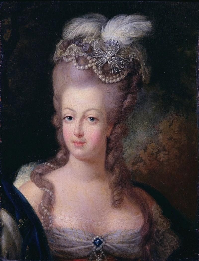 Portraits de Marie-Antoinette attribués aux Gautier Dagoty (ou d'après). Mariea11