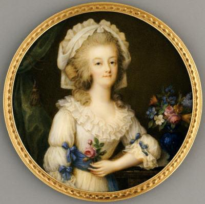 Portraits de Marie-Antoinette et Louis XVI, par Louis-Marie Sicard, dit Sicardi ou Sicardy Miniat10