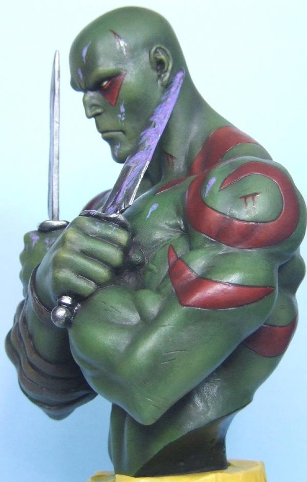 L'atelier de bruno : Drax sculpté par Ydol. Drax_510
