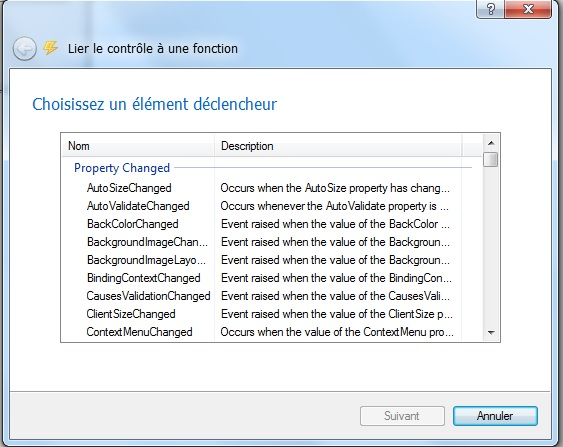avoir la description élément déclencheur en français SoftwareZator 2014  Descri12