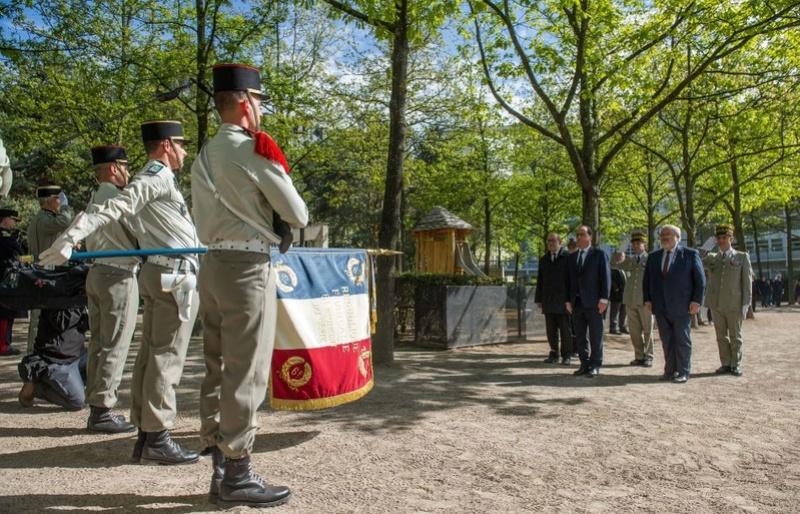 Cérémonie de lancement du mémorial en hommage aux militaires français morts en opérations extérieures. Captur25