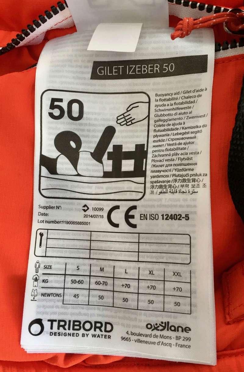Gilet 50Newtons 30€ avec housse rame FCS Img_3717