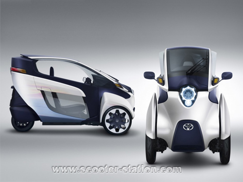 Toyota i-Road : mi Piaggio MP3, mi Renault Twizy Toyota10